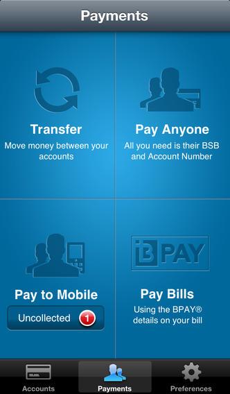 ANZ銀行のアプリ