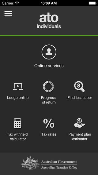 オーストラリア国税局のアプリ