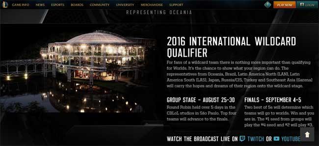 リーグ・オブ・レジェンド(League of Legends)』世界規模大会「International Wildcard Qualifier 2016(IWCQ 2016)」